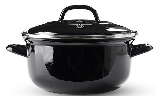 Enameled Black Carbon Steel Dutch Oven by BK