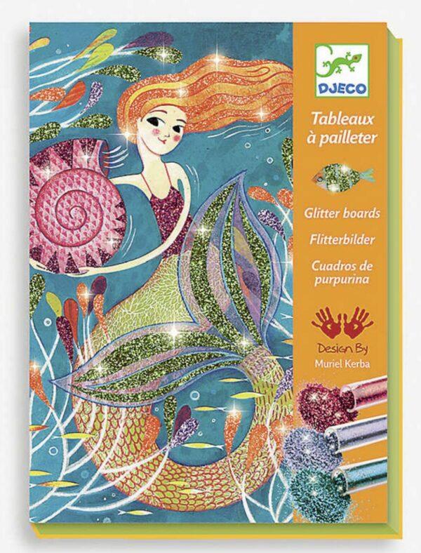 Dejeco Glitter Boards Mermaid