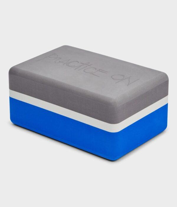 Manduka Recycled Foam Yoga Block, Be Bold Blue